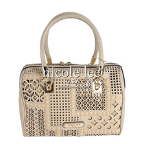 Nicole Lee (original) Isabella Laser Cut Boston Bag