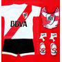 Kit River Bebe Camiseta+short+escarpines+medias+babero Boca