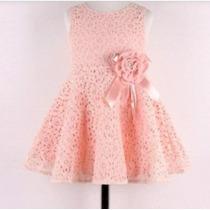 Vestido Rosa Bebida Niña Fiesta Lindo
