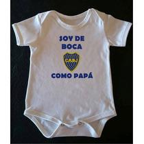 Bodys Bebes Boca Juniors La Mejor Calidad Mangas Cortas!!!!!