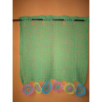 Tejidos Crochet Cortinas Retro Lisas O Combinadas