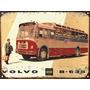 Cartel De Chapa Vintage Colectivo Bus Volvo No Es Vinilo