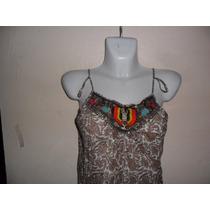 Ropa No Ilusion Blusa Tirantes C/diseño Hindu Hippie Etnica