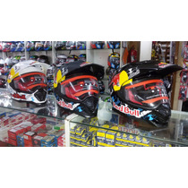 Capacete Helmet Cross Off-road Red Bull Mrc Branco/preto