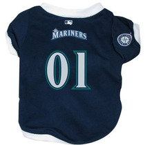 Camisa Para Perro Hunter Mfg Seattle Mariners Jersey Dog Az