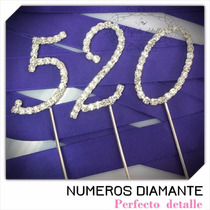 Envio + 1 Numeros Diamante Decoracion De Pastel Epd
