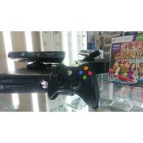 Xbox 360 4g Slim + Sensor Kinect + 10 Jogos
