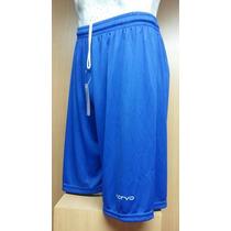 Short De Futbol Azul Liso Sin Escudo