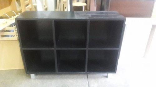 Mueble biblioteca cubo con estantes minimalista en melamina ...