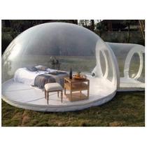 Tienda De Campaña Transparente Inflable Burbuja Pvc