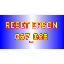 Reset Impressora Epson C67_c68 + Frete Grátis