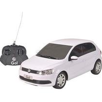 Miniatura Plastico Vw Gol G6 Controle Remoto 1:18 Branco