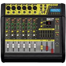 Mesa De Som Amplificada 6 Canais 400w Vz-60a Ii - Skp