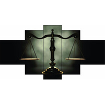 Quadro Decorativo Direito Escritório Advocacia Balança163x70