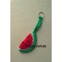 Llavero Sandia Y Otras Frutas Tejido Crochet Ideal Souvenirs