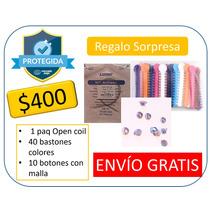 Kit Ortodoncia Brackets Ligas, Botones Y Open Coil