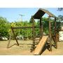 Parque Infantil De Madeira Colorido Mod 302