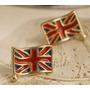Zarcillos Bandera Inglaterra Britanica Rolling Stones Moda