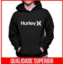 Moletom Hurley Masculino E Feminino Blusa De Frio Canguru