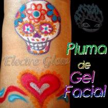 Plumas De Gel Facial Kit Maquillaje Pintacaritas Profesional