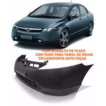 Parachoque Honda New Civic 2006 2007 2008 C/ Ressalto C/furo