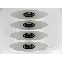 Adesivos Capacete Buell Resinados Refletivo 2,4x10 Cms