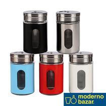 Set X5 Especiero Vidrio C/metal Color Moderno Bazar