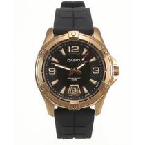 Relógio Casio Mtd-1062-1a Dourado Inox Pulseira Resina Lindo