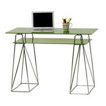 Escritorio Moderno Metal Vidrio Verde 110x55x76 Cuotas