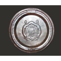Placa Personalizada De Cobre Elaborada Michoacán 40 X 40 Cm.