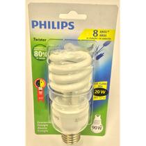 Lâmpada Compacta Espiral Philips 20w 127v E27 Branca