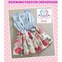Vestido De Niñas Importado Fashion Jeans Flores Sport Casual