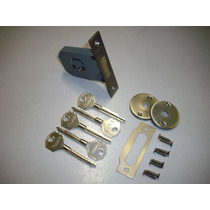 Fechadura Trava Tetra Auxiliar Oxidada - Broca 45mm / Iano