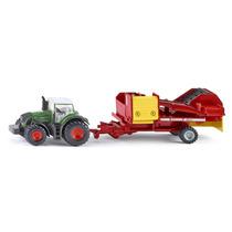 Tractor Con Cosechadora De Papas Siku Esc. 1/87 Nuevo!