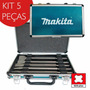 Kit 5 Pcs Ponteira Talhadeira Broca Sds-plus + Maleta Makita