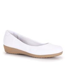 Sapato Anabela Conforto Feminino Usaflex By Perfetto- Branco