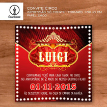 24 Convites Personalizados Circo