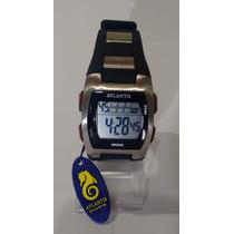 Relogio Atlantis Digital Cronometro Alarme Bonito Elegante