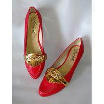 Linda Baleta Calzado Elgante Para Dama Roja Envío Gratis