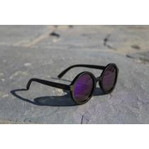 Lentes De Sol Polarizados Gowell Purple Haze Madera Bamboo