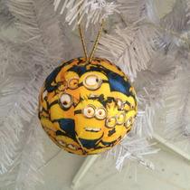 Bola De Natal 8cm Minions