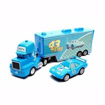 Caminhão Mack Hauler + King 43 Dinoco Rei Mcqueen Disney