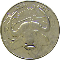 Argélia - 1 Dinar 2006 (búfalo)