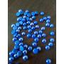 Medias Perlas Sueltas 05mm 1000 Unid Azul Termoadhesivas