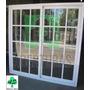 Ventana Aluminio Blanco Reparti 150x150 C/vid Y Reja Puertas