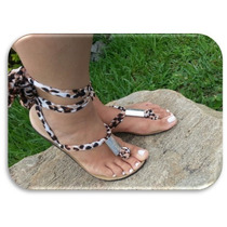 Sandalias Para Damas Animal Print Fashion