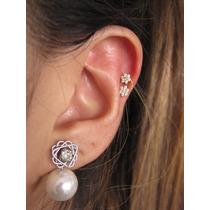 Piercing Orelha Cartilagem Fl Ouro, Flor, Prata, Helix
