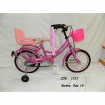 Bicicleta Barbie Rod. 16 - Con Canasto, Sillita Y Rueditas