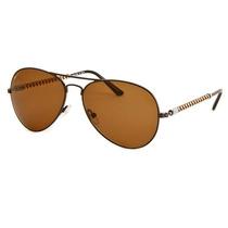Óculos De Sol Invicta Aviador Preto Lente Marrom Iew016-08