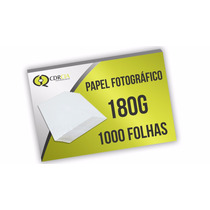 Papel Fotográfico Glossy A4, Auto Brilho, 180g - 1000 Folhas